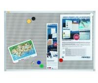 Tablica magnetyczno-tekstylna FRANKEN Xtra!Line, 90x60cm, rama aluminiowa, Tablice magnetyczno-tekstylne, Prezentacja