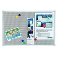 Magnetic-fabric board, FRANKEN Xtra!Line, 90x60cm, aluminium frame