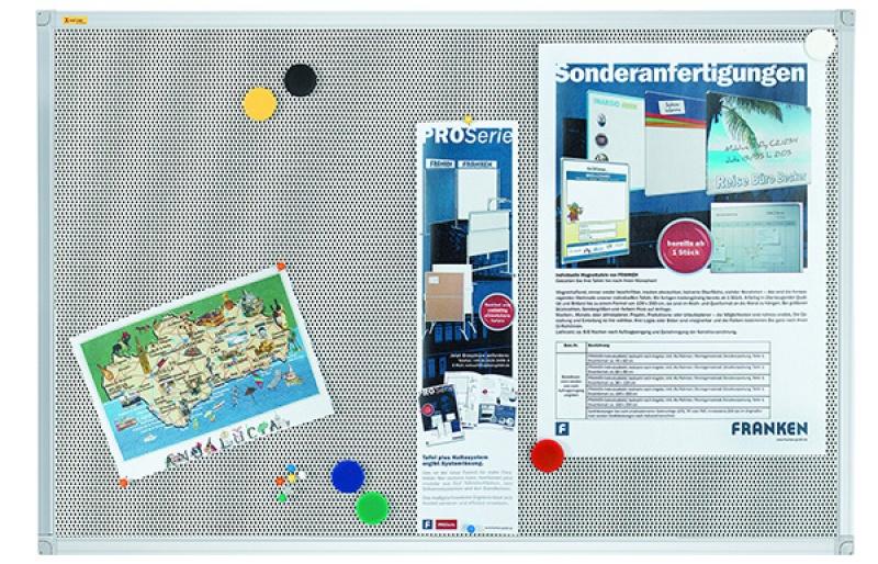 Tablica magnetyczno-tekstylna Xtra!Line, 90x60cm, rama aluminiowa, Tablice magnetyczno-tekstylne, Prezentacja