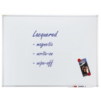 Dry-wipe & magnetic whiteboard, FRANKEN Xtra!Line, 180x90cm, lacquered, aluminum frame.