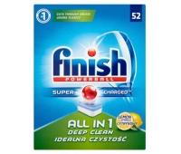 Tabletki do zmywarki FINISH All-in-one Powerball, 52szt., lemon, Środki czyszczące, Artykuły higieniczne i dozowniki