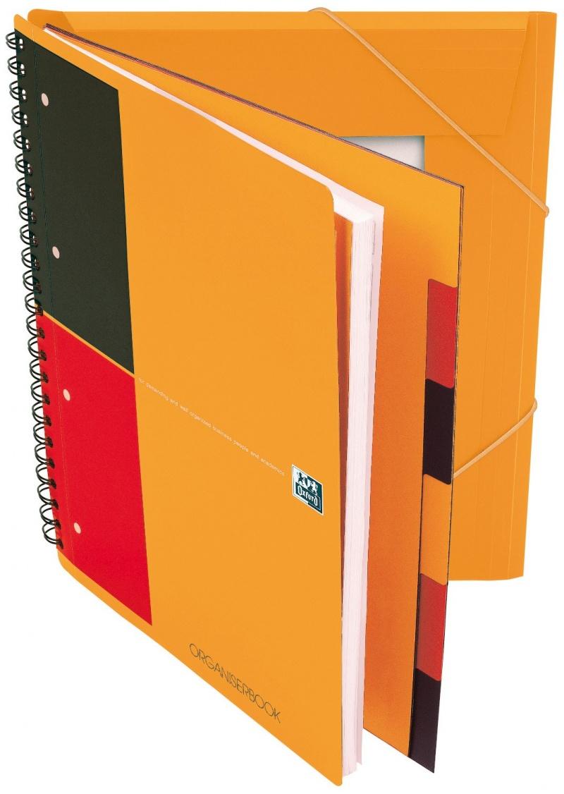 KOŁONOTATNIK ORGANISERBOOK A4+ 80K LI PP OXFORD INTERNATIONAL, Kołonotatniki, Zeszyty i bloki