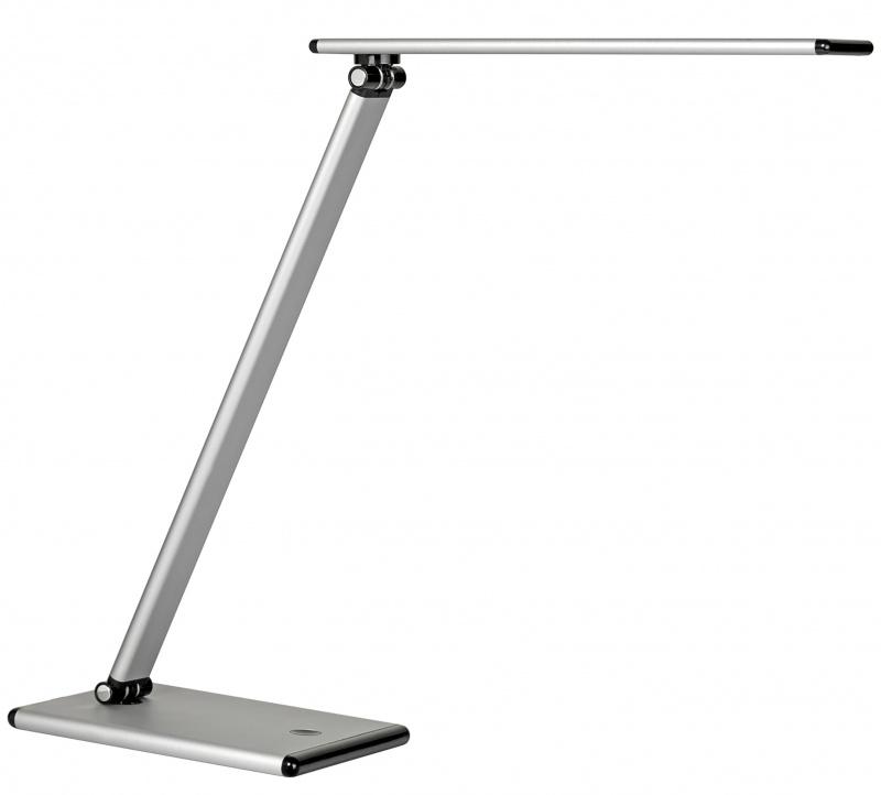 LAMPA BIURKOWA UNILUX TERRA LED, SREBRNA, Lampki, Urządzenia i maszyny biurowe