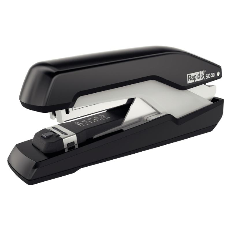 Zszywacz FS Rapid Supreme Omnipress SO30 czarno-szary, 5 lat gwarancji, 30 kartek, Zszywacze, Drobne akcesoria biurowe