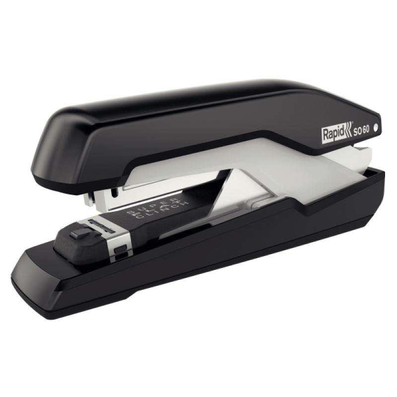 Zszywacz Rapid Supreme Omnipress SO60 czarno-szary, 5 lat gwarancji, 60 kartek, Zszywacze, Drobne akcesoria biurowe