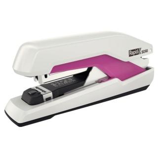 Zszywacz Rapid Supreme Omnipress SO60 biało różowy, 5 lat gwarancji, 60 kartek, Zszywacze, Drobne akcesoria biurowe