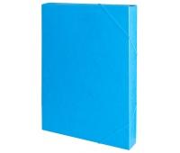 Teczka z gumką przestrz. OFFICE PRODUCTS, preszpan, A4/40, 450gsm, niebieska, Teczki przestrzenne, Archiwizacja dokumentów