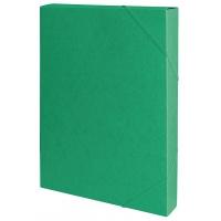 Teczka z gumką przestrz. OFFICE PRODUCTS, preszpan, A4/40, 450gsm, zielona, Teczki przestrzenne, Archiwizacja dokumentów