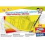 Blok techniczny GIMBOO, A4, 10 kart., 150gsm, mix kolorów, Bloki, Artykuły szkolne