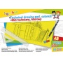 Technical drawing pad, GIMBOO, A3, 10 sheets, 150gsm, assorted colours