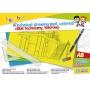 Blok techniczny GIMBOO, A3, 10 kart., 150gsm, mix kolorów, Bloki, Artykuły szkolne