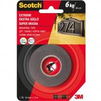 Taśma montażowa SCOTCH®, super mocna, 19mm x 1,5m, czarna, Taśmy specjalne, Drobne akcesoria biurowe