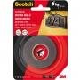Taśma montażowa SCOTCH®, super mocna, 19mm x 1,5m, czarna