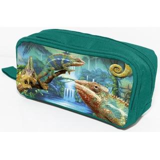 Piórnik-kosmetyczka DONAU Chameleon, bez wyposazenia, 20x8x5,5cm, zielony, Piórniki, Artykuły szkolne