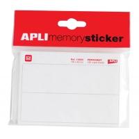 Etykiety pocztowe APLI, w bloczku, 100x30mm, 50 ark., białe, Etykiety samoprzylepne, Papier i etykiety