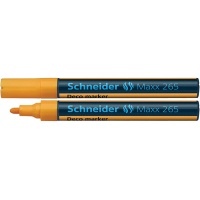 Chalk marker, SCHNEIDER Maxx 265 Deco, round, 2-3mm, pendant, orange