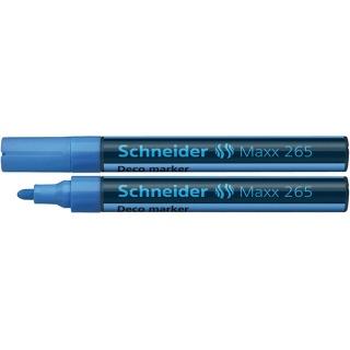 Marker kredowy SCHNEIDER Maxx 265 Deco, okrągły, 2-3mm, zawieszka, jasnoniebieski, Markery, Artykuły do pisania i korygowania