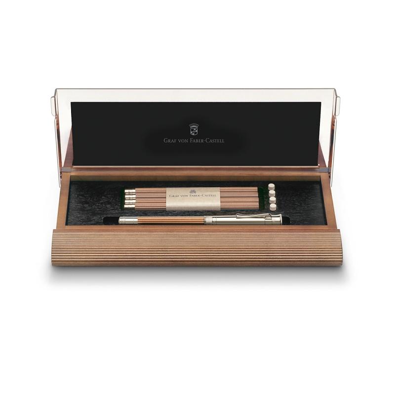 Kaseta na biurko z wypełnieniem marki Graf von Faber-Castell, kolor brązowy., Pojemniki, Organizacja na biurku