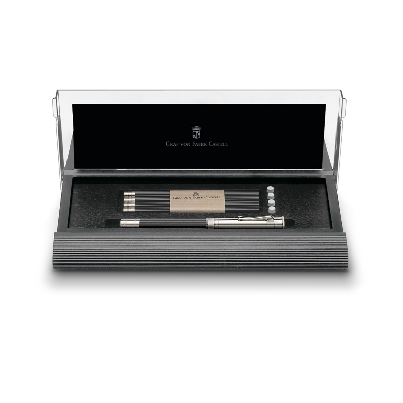 Kaseta na biurko z wypełnieniem marki Graf von Faber-Castell, kolor czarny., Pojemniki, Organizacja na biurku