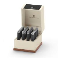 Naboje atramentowe marki Graf von Faber-Castell 20x Carbon Black, Naboje, Artykuły do pisania i korygowania