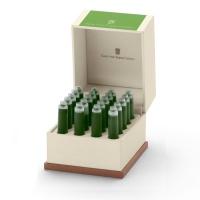 Naboje atramentowe marki Graf von Faber-Castell 20x Moss Green, Naboje, Artykuły do pisania i korygowania
