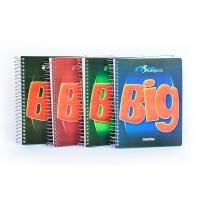 Kołonotatnik BIG, format A5, 160 kartek 80g/m2, przekładki 4x40, linie, czerwony, Kołonotatniki, Zeszyty i bloki