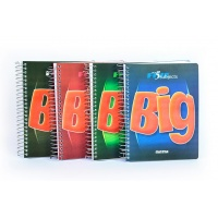 Kołonotatnik BIG, format A5, 160 kartek 80g/m2, przekładki 4x40, linie, zielony, Kołonotatniki, Zeszyty i bloki