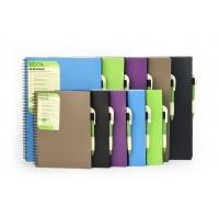 Kołonotatnik ECO PEN, format A4, 80 kartek 70g/m2, kratka, ZIELONY, Kołonotatniki, Zeszyty i bloki