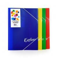 Teczka ofertowa EXCLUSO3 FLAP FOLDER, format A4, NIEBIESKA, Teczki ofertowe, Archiwizacja dokumentów