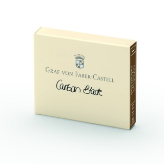 Naboje atramentowe marki Graf von Faber-Castell kolor Carbon Black - czarny 6 szt., Atramenty, wkłady i naboje, Artykuły do pisania i korygowania