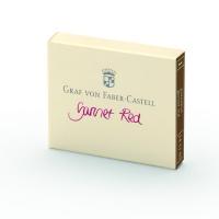 Naboje atramentowe marki Graf von Faber-Castell kolor Garnet Red – bordowy 6 szt., Atramenty, wkłady i naboje, Artykuły do pisania i korygowania