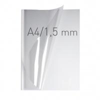 O.easyCOVER Double Clear A4 1.5mm biały 50szt, Oprawa dokumentów, Urządzenia i maszyny biurowe
