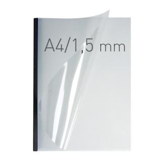 O.easyCOVER Double Clear A4 1.5mm czarny 50szt, Oprawa dokumentów, Urządzenia i maszyny biurowe