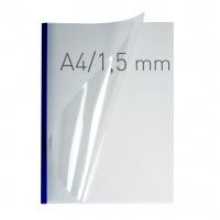 O.easyCOVER Double Clear A4 1.5mm niebieski 50szt, Oprawa dokumentów, Urządzenia i maszyny biurowe