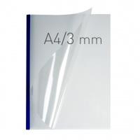 O.easyCOVER Double Clear A4 3mm niebieski 40szt, Oprawa dokumentów, Urządzenia i maszyny biurowe