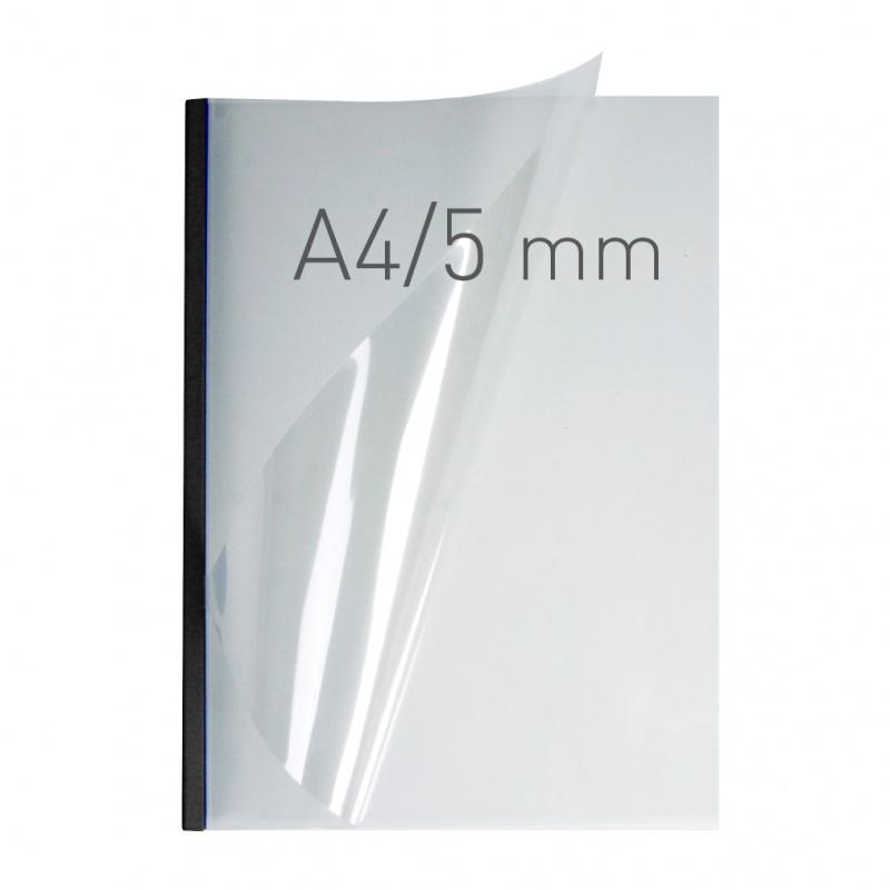 O.easyCOVER Double Clear A4 5mm czarny 40szt, Oprawa dokumentów, Urządzenia i maszyny biurowe