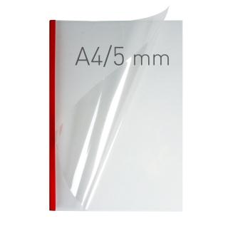 O.easyCOVER Double Clear A4 5mm czerwony 40szt, Oprawa dokumentów, Urządzenia i maszyny biurowe