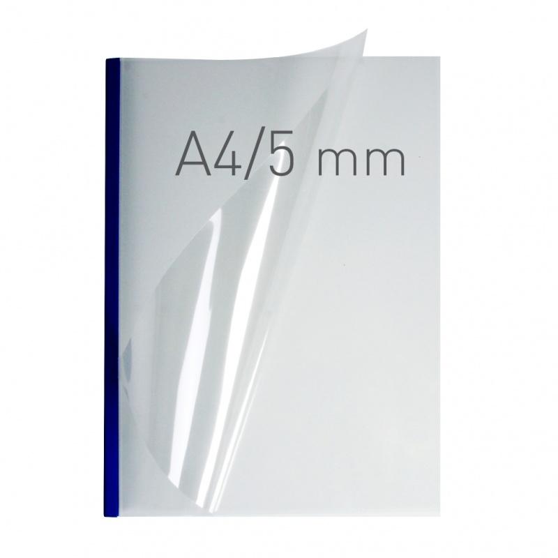 O.easyCOVER Double Clear A4 5mm niebieski 40szt, Oprawa dokumentów, Urządzenia i maszyny biurowe