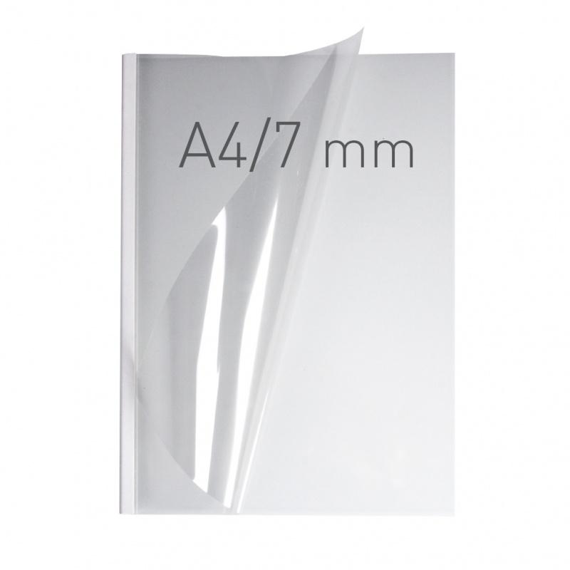 O.easyCOVER Double Clear A4 7mm biały 40szt, Oprawa dokumentów, Urządzenia i maszyny biurowe