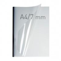 O.easyCOVER Double Clear A4 7mm czarny 40szt, Oprawa dokumentów, Urządzenia i maszyny biurowe