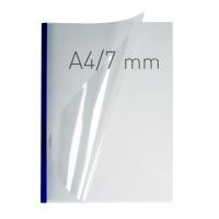 O.easyCOVER Double Clear A4 7mm niebieski 40szt, Oprawa dokumentów, Urządzenia i maszyny biurowe