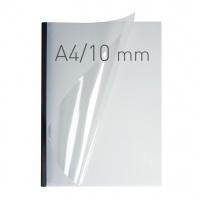 O.easyCOVER Double Clear A4 10mm czarny 30szt, Oprawa dokumentów, Urządzenia i maszyny biurowe