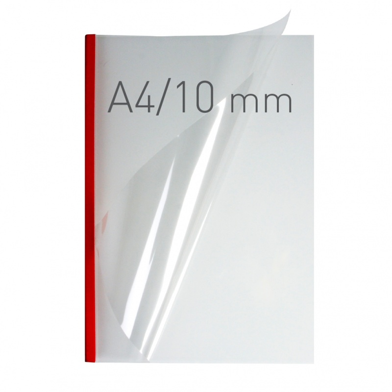 O.easyCOVER Double Clear A4 10mm czerwony 30szt, Oprawa dokumentów, Urządzenia i maszyny biurowe
