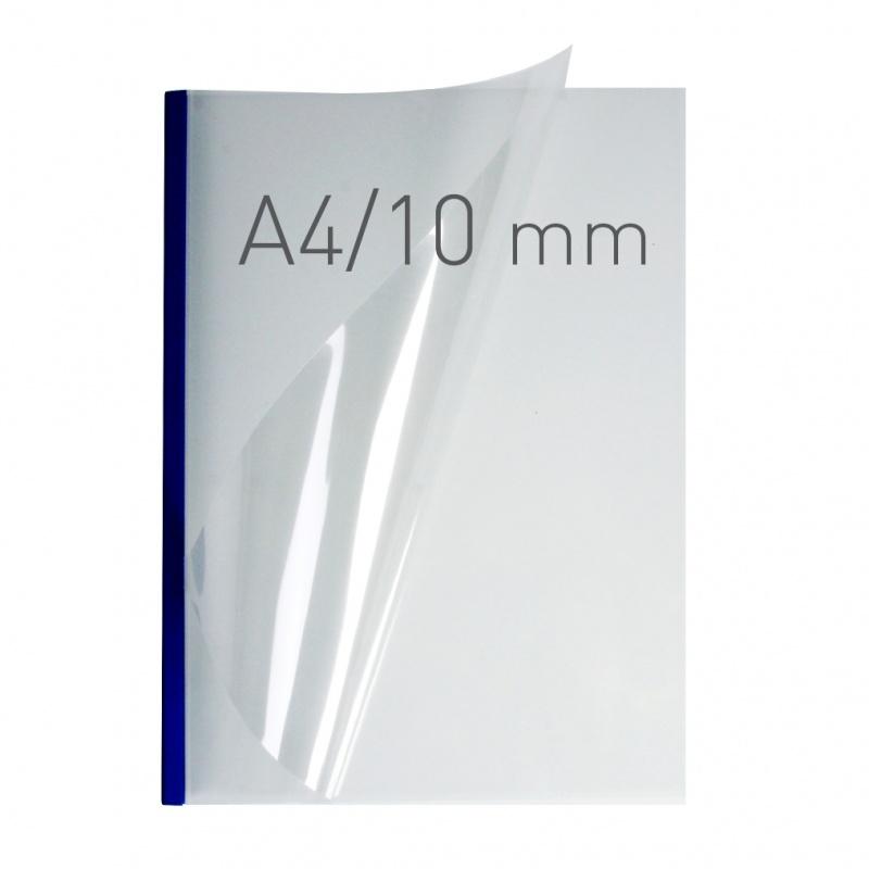 O.easyCOVER Double Clear A4 10mm niebieski 30szt, Oprawa dokumentów, Urządzenia i maszyny biurowe