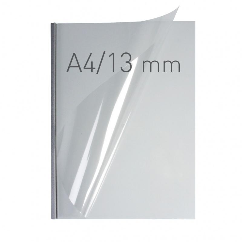 O.easyCOVER Double Clear A4 13mm srebrny 30szt, Oprawa dokumentów, Urządzenia i maszyny biurowe