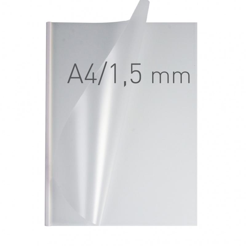 O.easyCOVER Double Half-Matt A4 1.5mm biały 50szt, Oprawa dokumentów, Urządzenia i maszyny biurowe