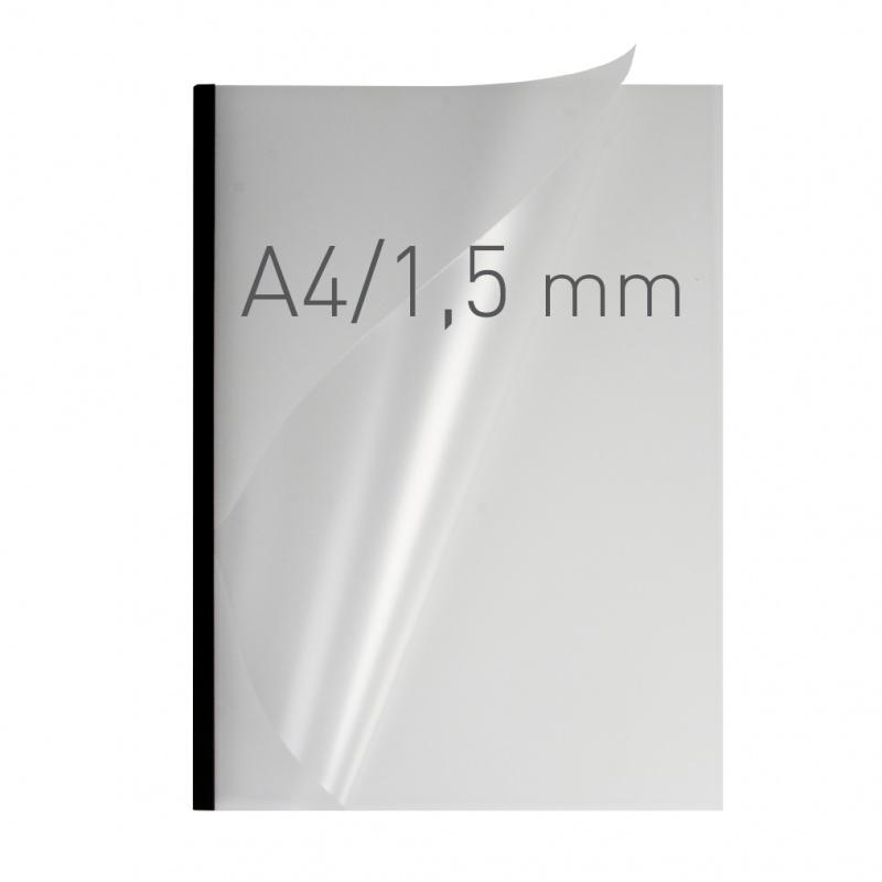 O.easyCOVER Double Half-Matt A4 1.5mm czarny 50szt, Oprawa dokumentów, Urządzenia i maszyny biurowe
