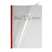 O.easyCOVER Double Half-Matt A4 1.5mm czerwony 50szt, Oprawa dokumentów, Urządzenia i maszyny biurowe