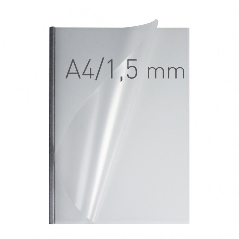 O.easyCOVER Double Half-Matt A4 1.5mm srebrny 50szt, Oprawa dokumentów, Urządzenia i maszyny biurowe