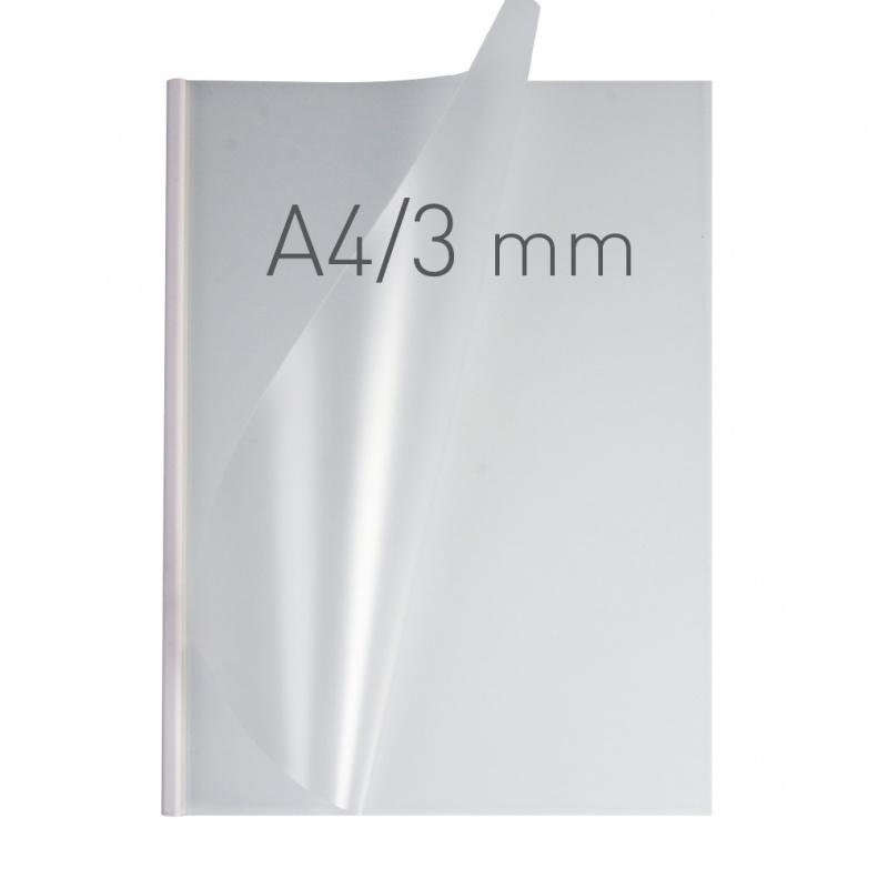 O.easyCOVER Double Half-Matt A4 3mm biały 40szt, Oprawa dokumentów, Urządzenia i maszyny biurowe